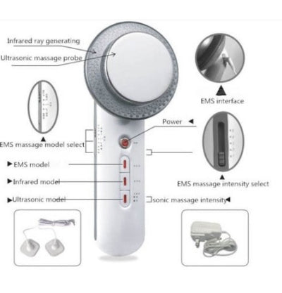 3-in-1 Ultrasonic EMS Infrared Body Slimming Massage