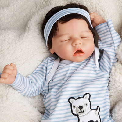 17 inch Real Lifelike Rebekah Reborn Baby Doll Girl, Lifelike Newborn Baby Dolls with Clothes