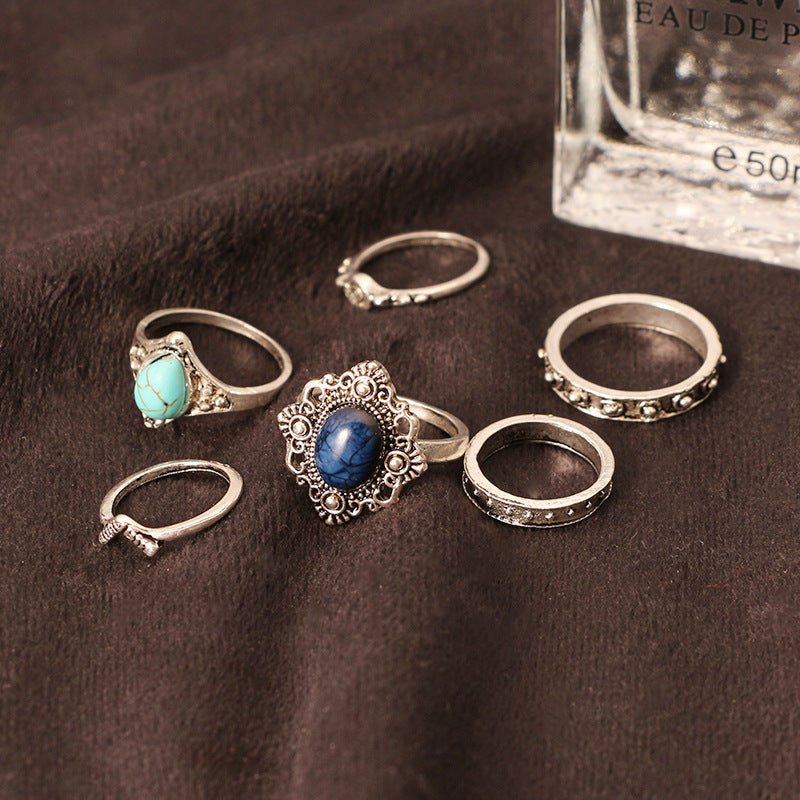 Vintage Fashion Ring set of 6