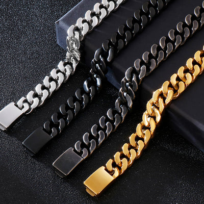 Stainless steel Cuban chain bracelet
