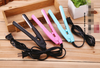 Mini ceramic hair straightener ion perm portable electric splint bangs clip straight