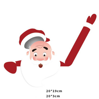 Santa Wiper Car Sticker without Straps
