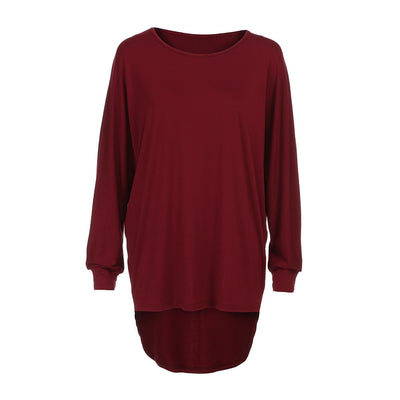 Loose mid-length long-sleeved T-shirt