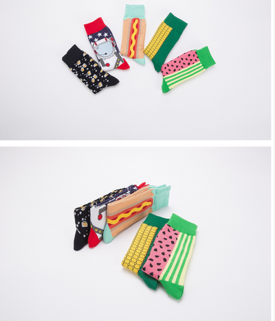 Colourful Happy socks Party Style