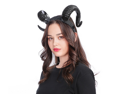 New horn antlers headband wide headband Christmas Halloween resurrection exaggerated headwear