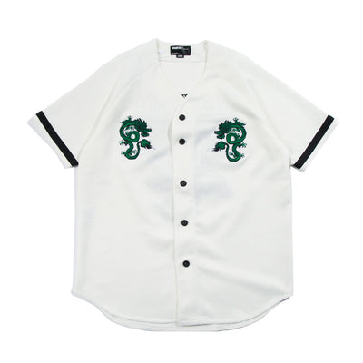 Flying Dragon Embroidered Short Sleeve Shirt