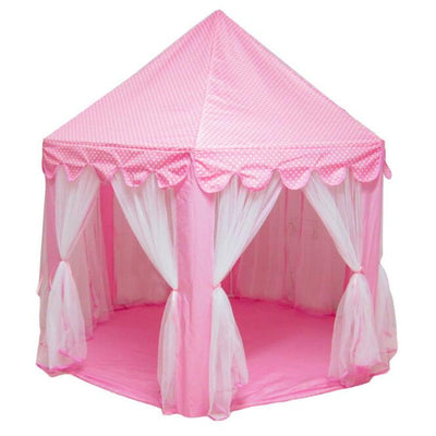 Pink Girls Castle Play Tent Princess Playhouse Children Kids Indoor Toys