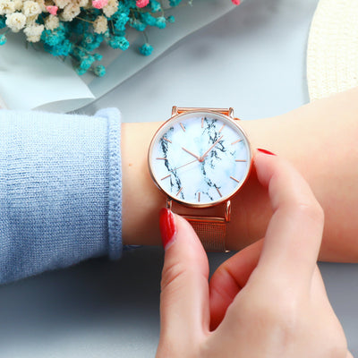 Marble quartz watch