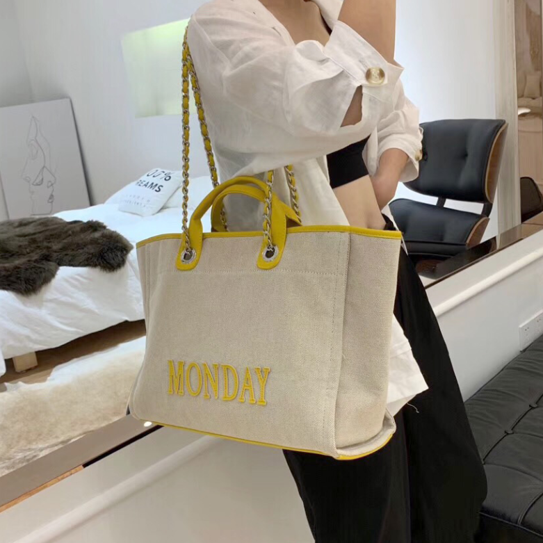 Fashion alphabet canvas bag