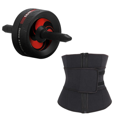 The abdominal muscle wheel can be equipped with tension belt push up support