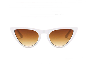 Retro cat eye sunglasses new triangle sunglasses European and American fashion men and women sunglasses