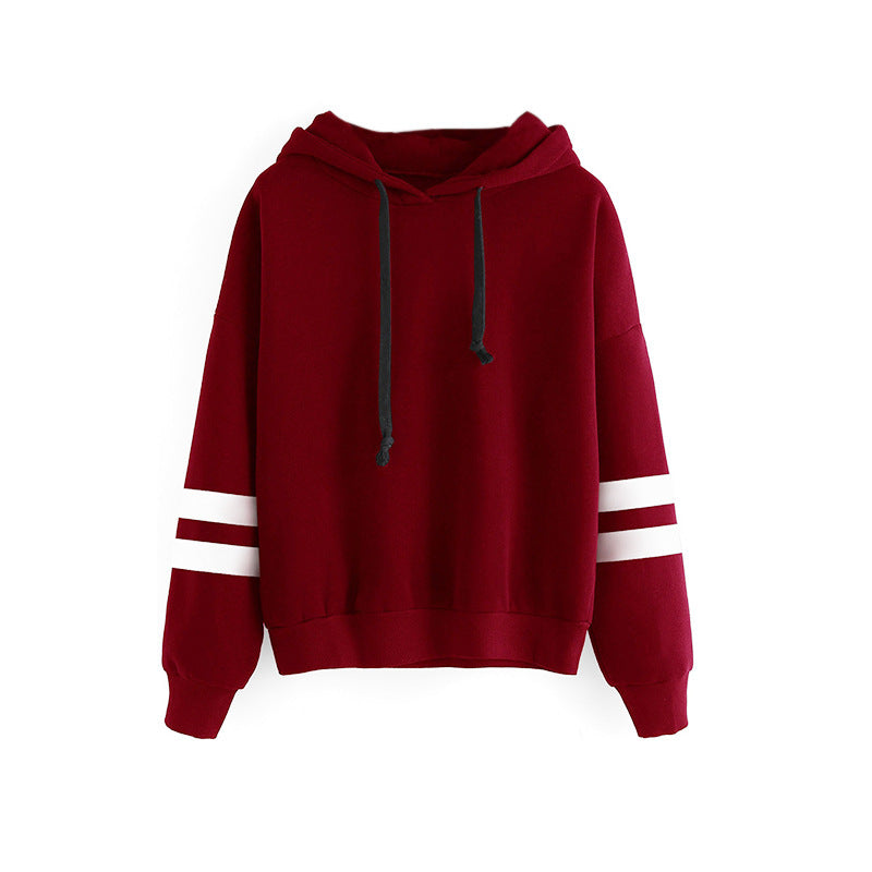Hooded loose long sleeve sweater