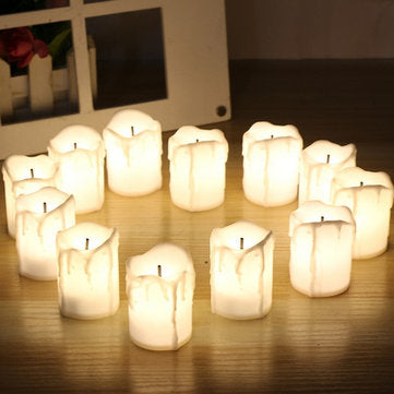 12Pcs LED Tea Light Candle Tea Light Flameless Flickering Battery Operated for Wedding Christmas