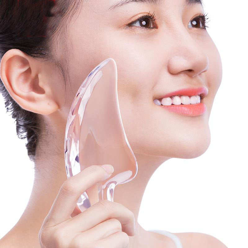 3D Transparent Crystal Facial Massager