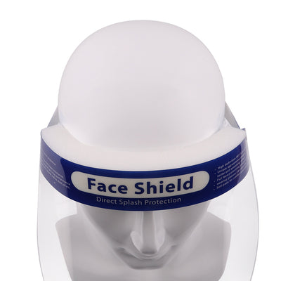 10 PCS Safety Face Shield Reusable Full Face Transparent Breathable Visor Windproof Dust proof Hat Shield Protect Eyes And Face for Man and Woman