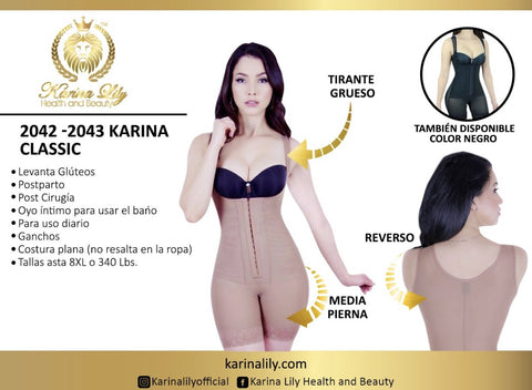 Karina Classic Shapewear Mid Leg  (Karinalily Collection)
