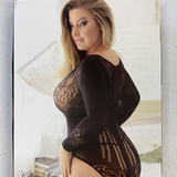 Lace Fishnet Lingerie Plus Size
