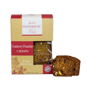 Jan's Farmhouse Cranberry Pistachio Crisps