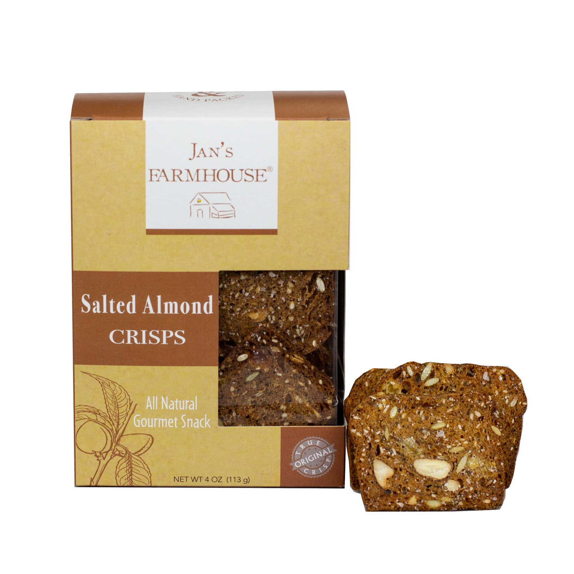 Jan's Farmhouse Salted Almond Crisps