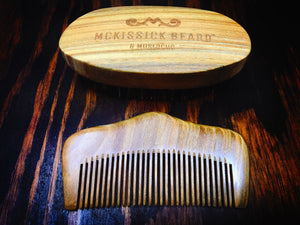 Sandalwood Beard Brush & Comb