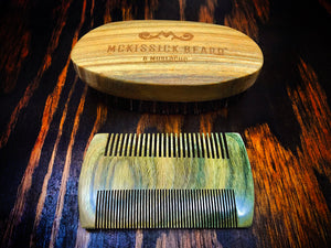 Sandalwood Beard Brush & Mustache Comb
