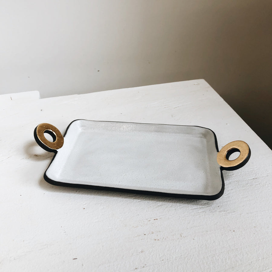 Gold Handled Tray