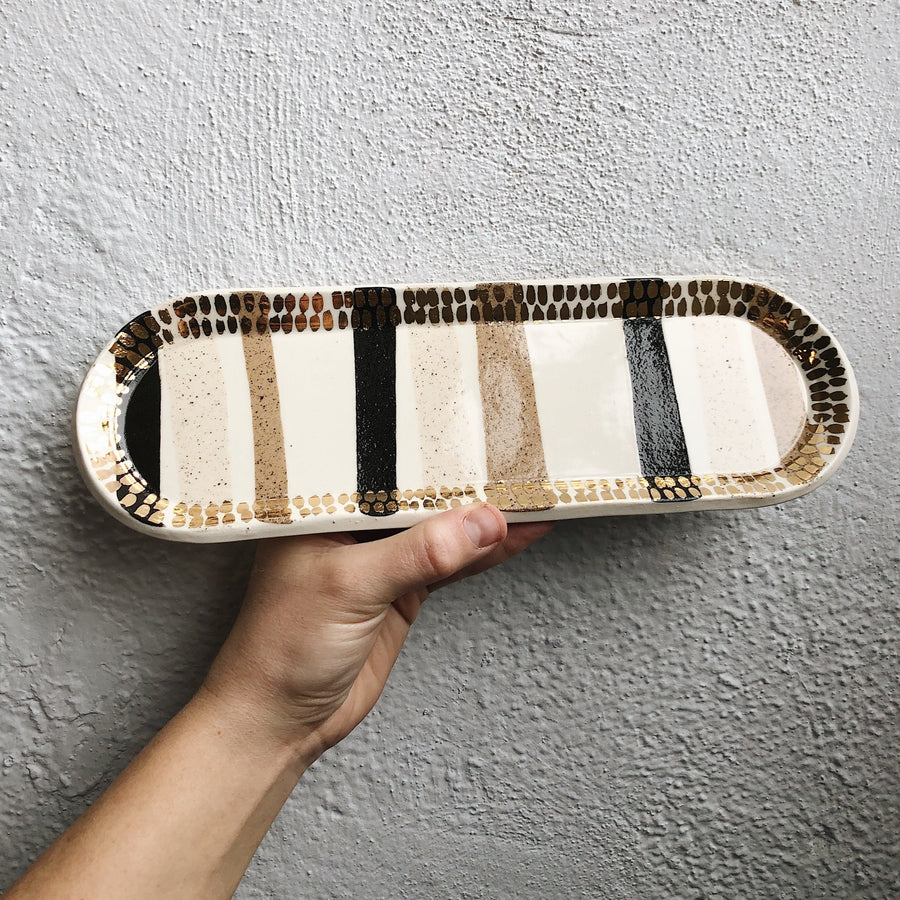 Striped Inlay Tray + Gold #2
