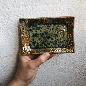 Speckled Turquoise + Gold Mini Vanity Tray