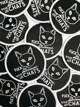 Fuck le patriarcat vive les chats · Patch brodé avec colle · Iron on patch