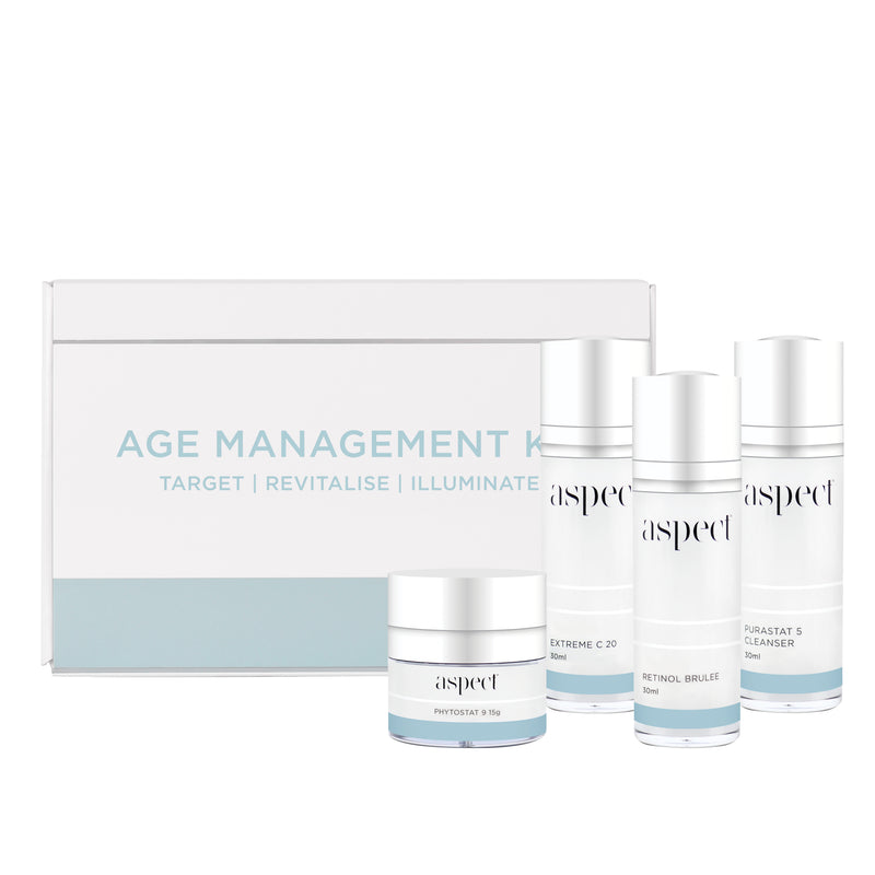 Aspect Age Management kit . An anti ageing skincare routine ready to go.