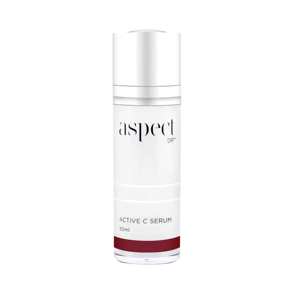Aspect DR Active C serum. A powerful antioxidant and peptide serum, with Vitamin C, Vitamin B5. SYN-COLL, Syn-Ake, Pepha-Tight and Canadian Willowherb