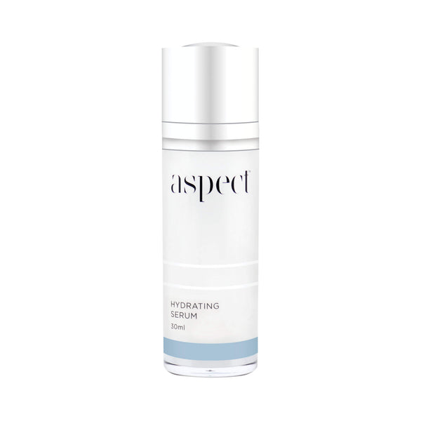 Aspect Hydrating serum containing hyaluronic acid to replenish hydration. Vegan friendly skin care
