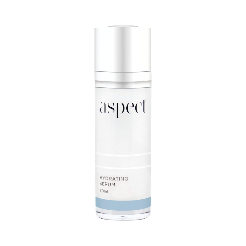 Aspect Hydrating serum helps bind moisture and replenish hydration. Containing a Hyaluronic Acid blend to help smooth the appearance of fine lines & wrinkles. Niacinamide -Vitamin B3, Vitamin C, Aspect™ Signature Blend Certified organic Australian superfood complex. Vegan friendly hyaluronic serum