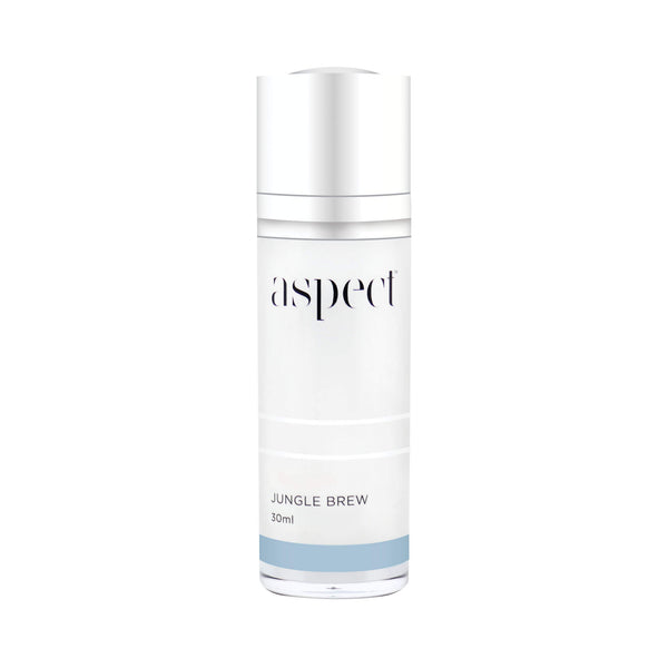 Aspect Jungle Brew for acne-prone, problematic skin concerns. Purifying,  soothing and calming antioxidant serum. Key Ingredients. Beracare AAA helps relieve irritated skin. Stay C®-50, Canadian Willowherb™ Extract. Aspect™ Signature Blend Certified organic Australian super food complex. Vegan friendly skincare