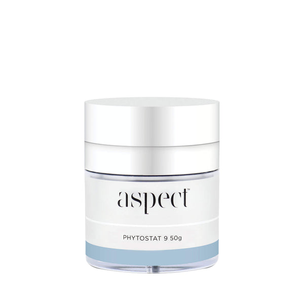 Aspect Phytostat 9 moisturiser. The every day, go-to moisturiser with antioxidant and antiageing benefits. Vegan