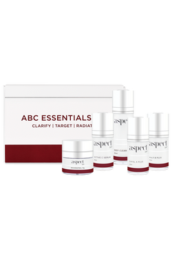The Aspect Dr ABC Essential Kit is the ultimate skin management system. An Australian Skincare routine kit including vitamin A, B & C serums, cleanser and moistiriser