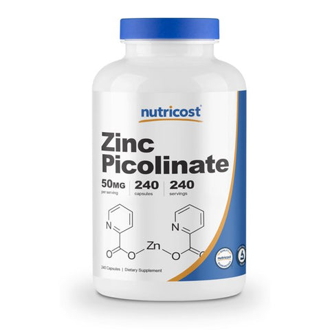 Zinc Picolinate (50 mg/240 capsules) Nutricost