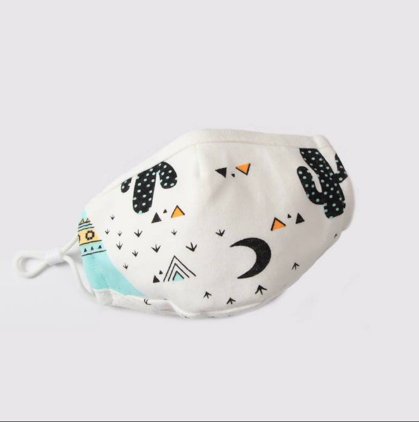 Kid's Cotton Face Mask with filter pocket - Desert