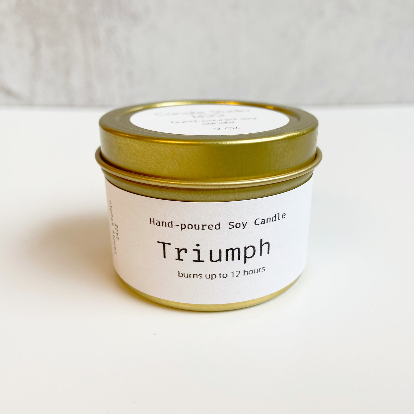 TRIUMPH Soy Candle gold tin - multiple sizes