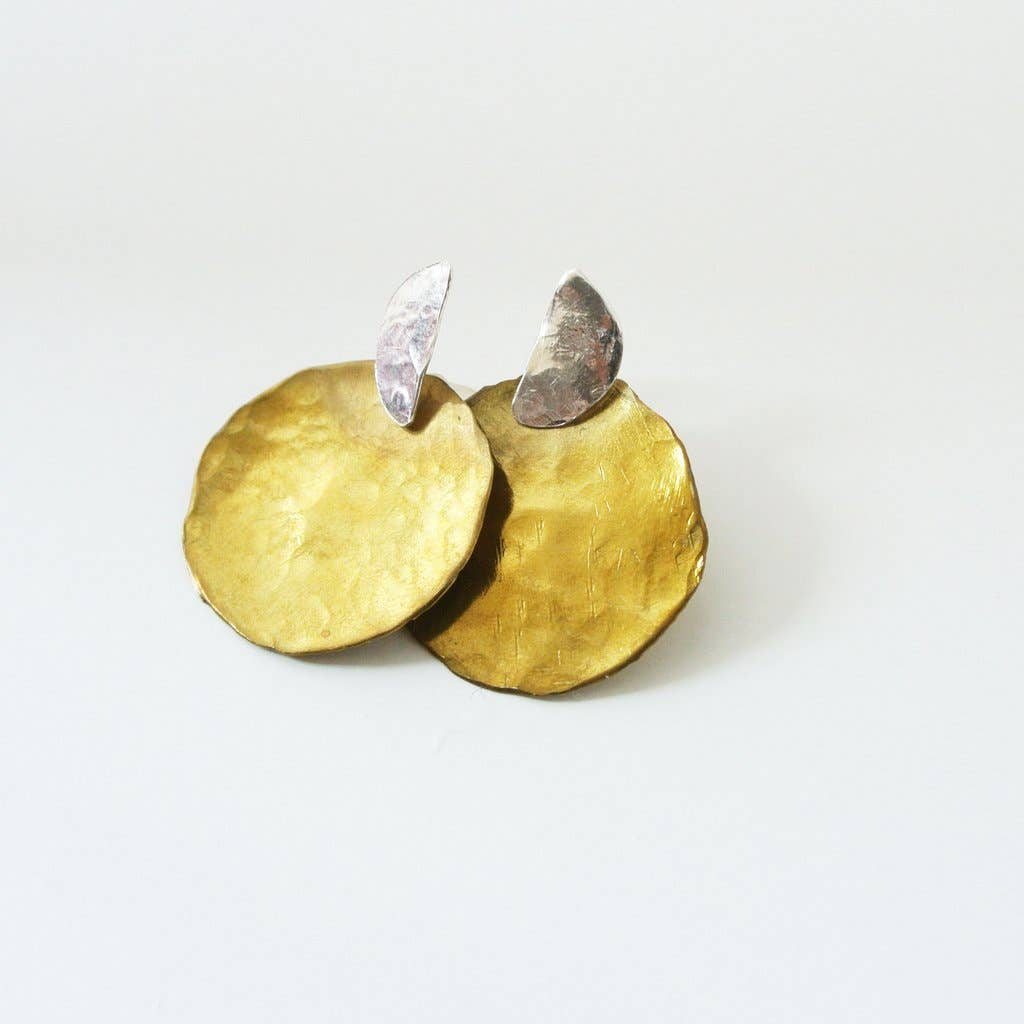 Darlene - Gold and Silver Ear Jacket Climber Stud Earrings