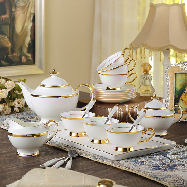 GOLDEN RIM TEACUP COLLECTION SET