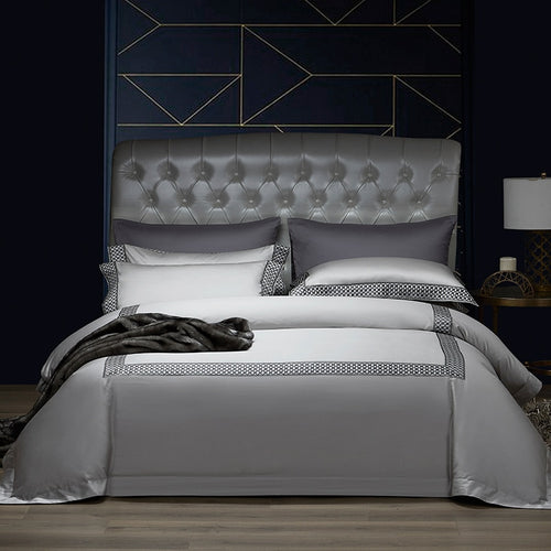 OSWALD PREMIUM DUVET COVER SET EGYPTIAN COTTON 1000TC