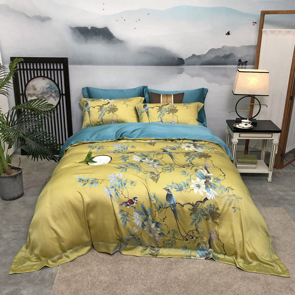 TRANQUILITY DUVET COVER & SHAMS TENCEL SILK 600TC