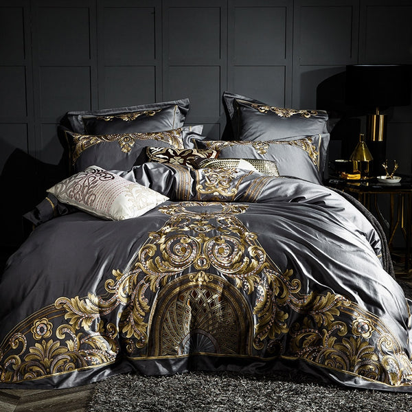 ELIZABETH DUVET COVER & SHAMS EGYPTIAN COTTON 1000TC
