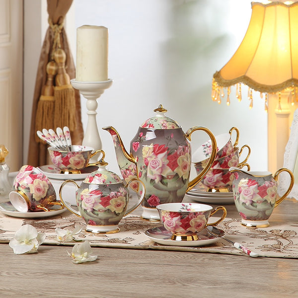 VERONA TEACUP COLLECTION SET
