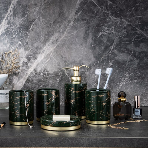 EMERALD LIGHTNING BATHROOM SET
