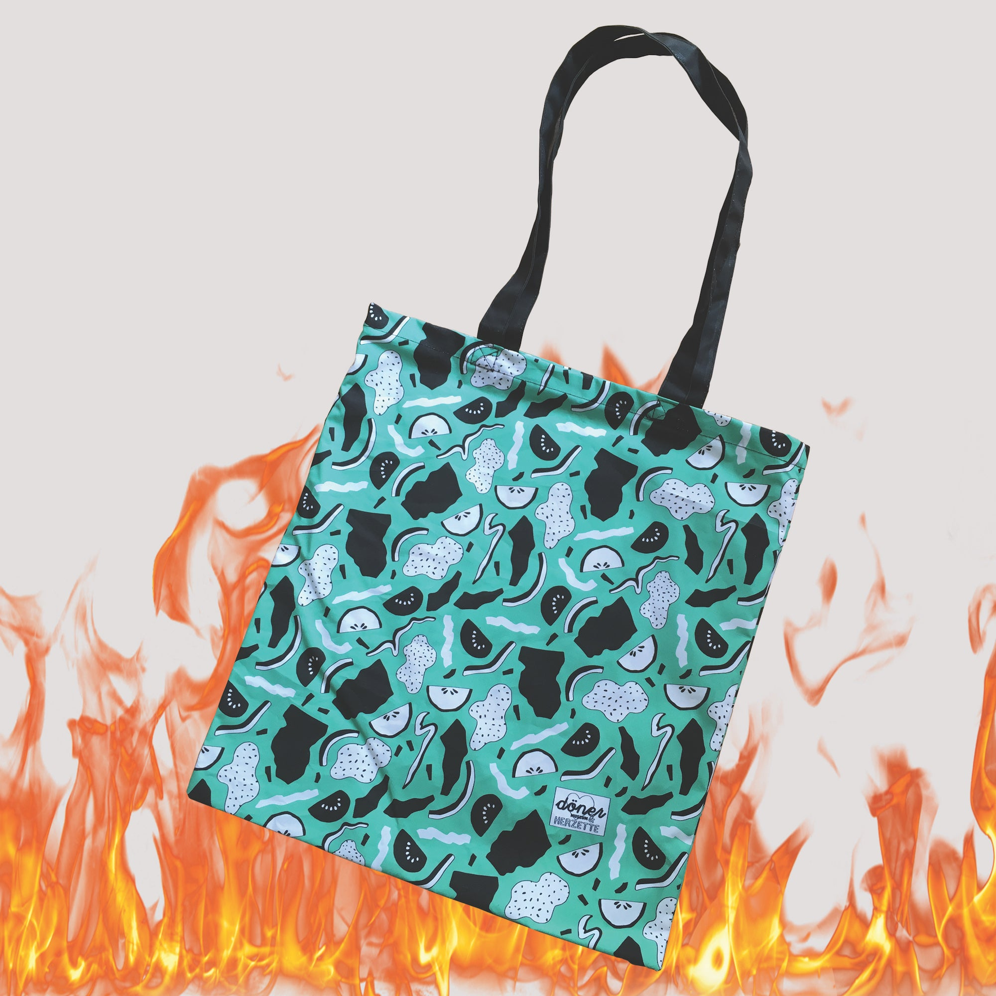 Abstract Dönerpattern - Cotton shoulder bag