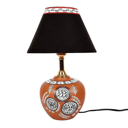 Hand Painted Terracotta Table Lamp For Bedroom| Designer Table Lamp For Living Room online