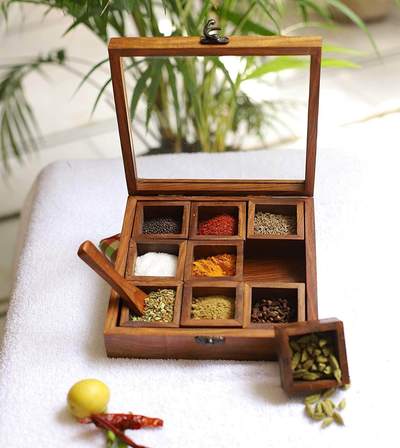 Handmade Wooden Spice Box