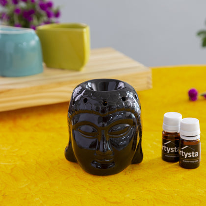 Ceramic Buddha Head Aromatherapy Essential Oil Diffuser
